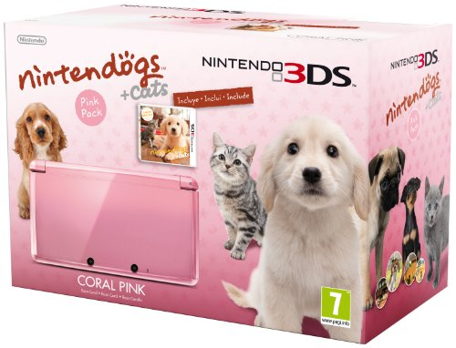 Nintendo 3ds rosa nintendogs